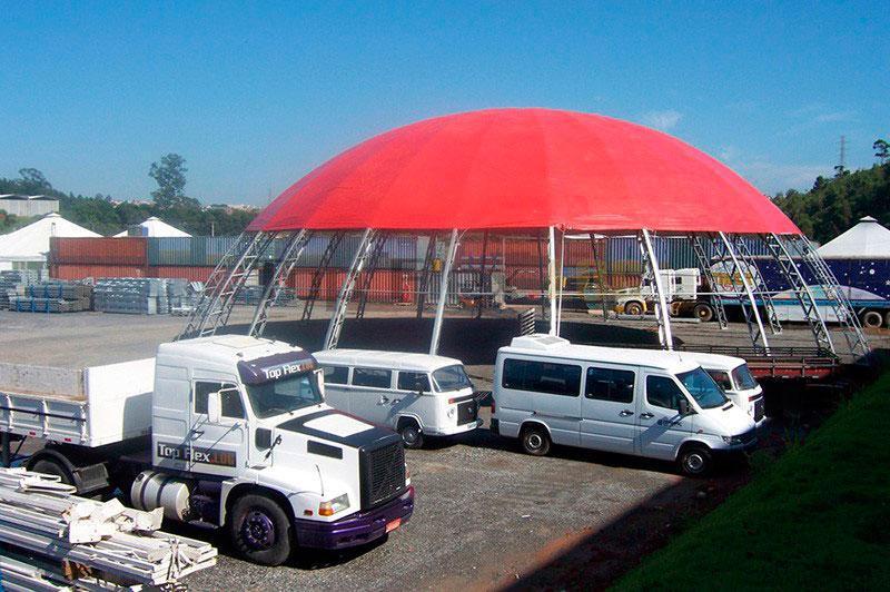 Locação de galpão inflável